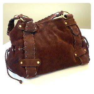 Kooba Chocolate Brown Suede Hobo Bag